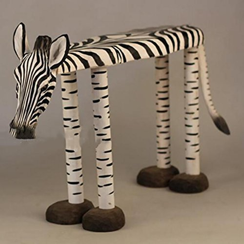 Visual taste Hocker Niedriger Hocker Massivholz, Hand Carving Animal Zebra Für Change Schuh Hocker Home Decorations