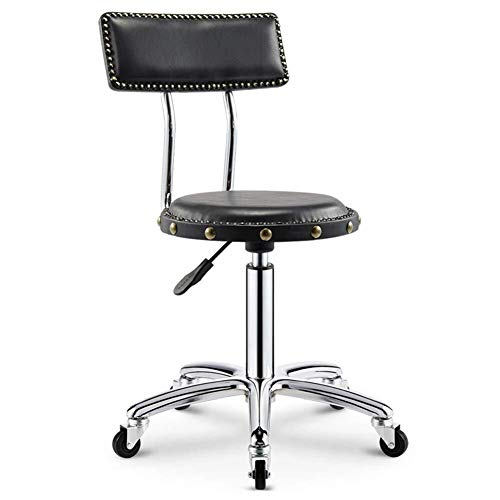 WSK-Hocker Rollhocker Hocker Mit Rollen Massagesessel Adjustable Swivel Hydraulic Gasheber Ergonomische Hocker for Friseur Maniküre Tattoo-Therapie Beauty Massage Spa Salon