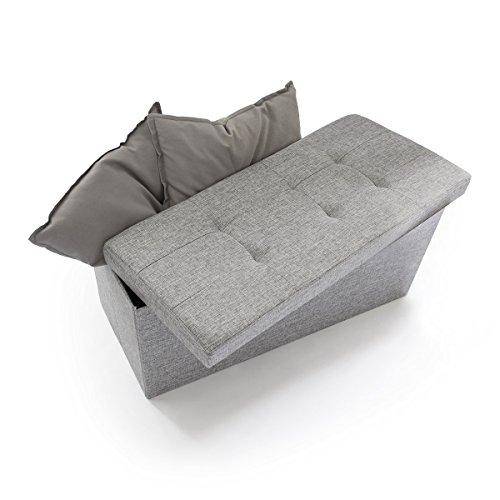 sitzhocker mit stauraum und verstaum glichkeit. Black Bedroom Furniture Sets. Home Design Ideas