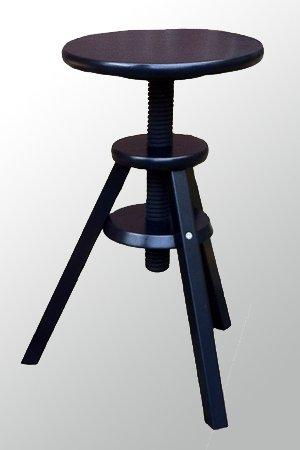 Barhocker holz mit oder ohne lehne for Hocker verstellbar
