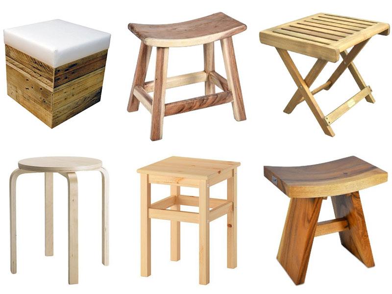 verschiedene sitzhocker aus holz. Black Bedroom Furniture Sets. Home Design Ideas