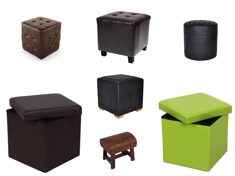 sitzhocker leder sitzw rfel. Black Bedroom Furniture Sets. Home Design Ideas
