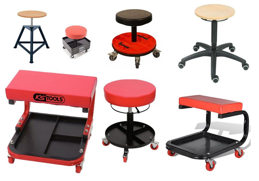 werkstatthocker mit rollen. Black Bedroom Furniture Sets. Home Design Ideas